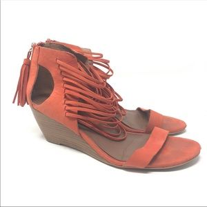 Matiko 7.5 Bryn ll Papaya Strappy Wedge Sandals